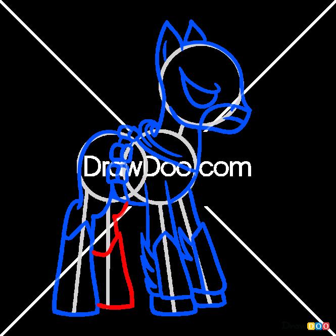 How to Draw Batpony, My Superhero Pony