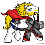 How to Draw Thor, My Superhero Pony