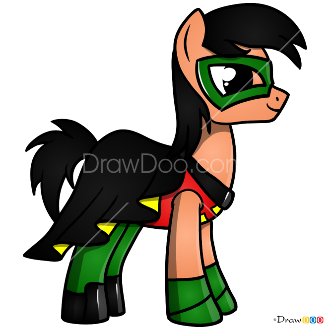 How to Draw Robin, My Superhero Pony