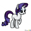 How to Draw Rarity, My Little Pony