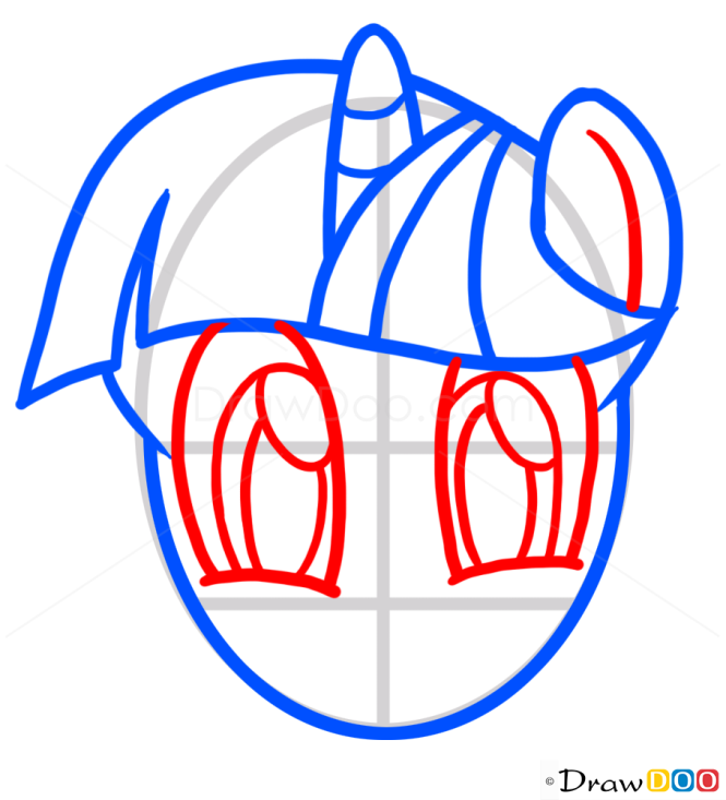 How to Draw Twilight Sparkle Face, My Little Pony