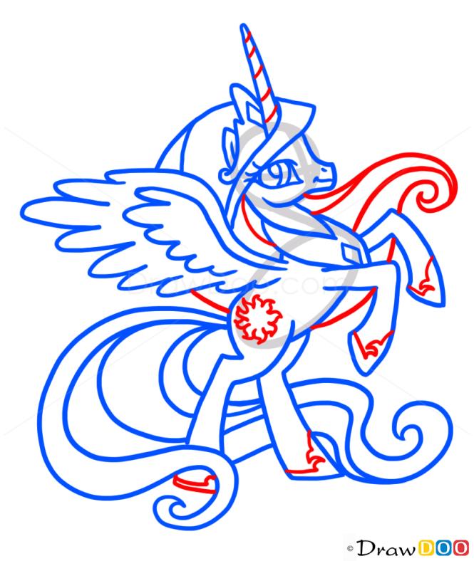 How to Draw Celestia, My Little Pony