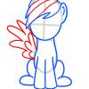 how to draw my little pony rainbow dash easy