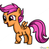How to Draw Scootaloo, My Little Pony