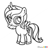 How to Draw Chibi Luna, My Little Pony
