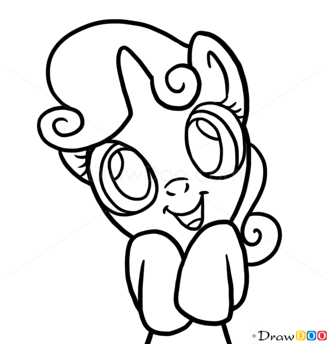 How to Draw Sweetie Belle, My Little Pony
