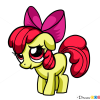 How to Draw Apple Bloom, My Little Pony