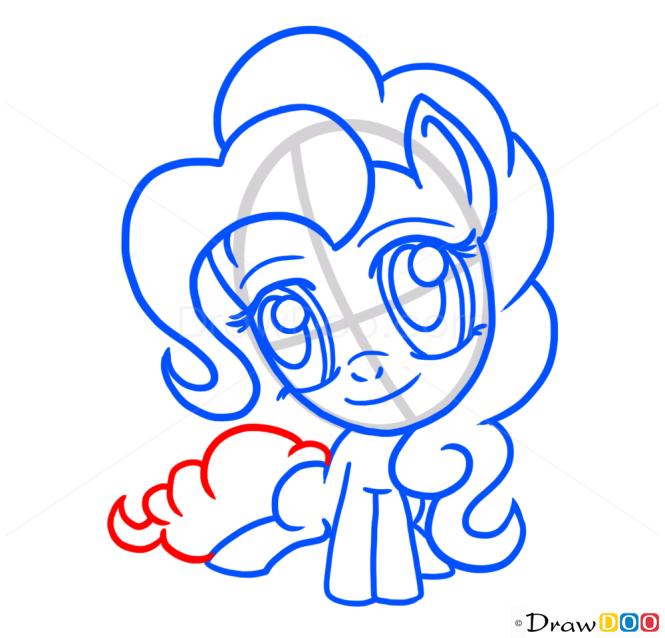 How to Draw Chibi Pinkie Pie, My Little Pony