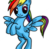 How to Draw Rainbow Dash easy, My Little Pony