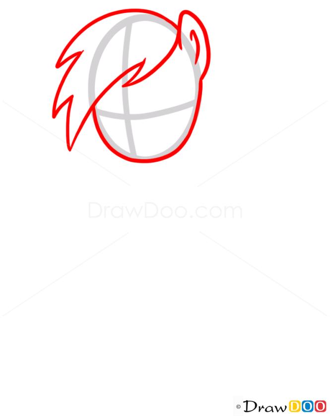 How to Draw Rainbow Dash easy, My Little Pony