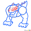 How to Draw T-Rox, Singing Monsters