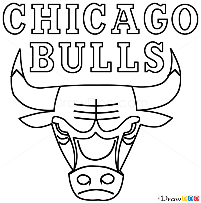 How to draw chicago bulls basketball logos for Draw logo free