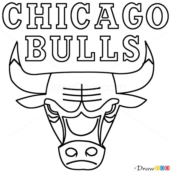 How To Draw Chicago Bulls Basketball Logos