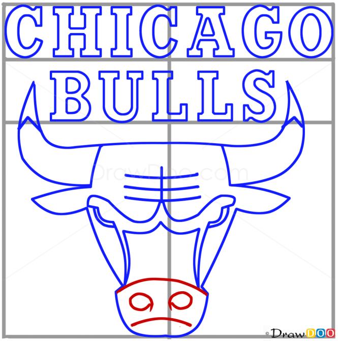 How to Draw Chicago Bulls, Basketball Logos