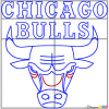 How to Draw Chicago Bulls, Basketball Logos
