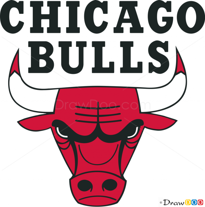 how to draw chicago bulls basketball logos