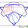 How to Draw New York Knicks, Basketball Logos