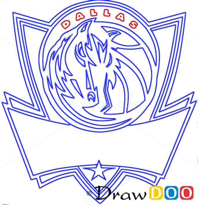 how to draw nba logos