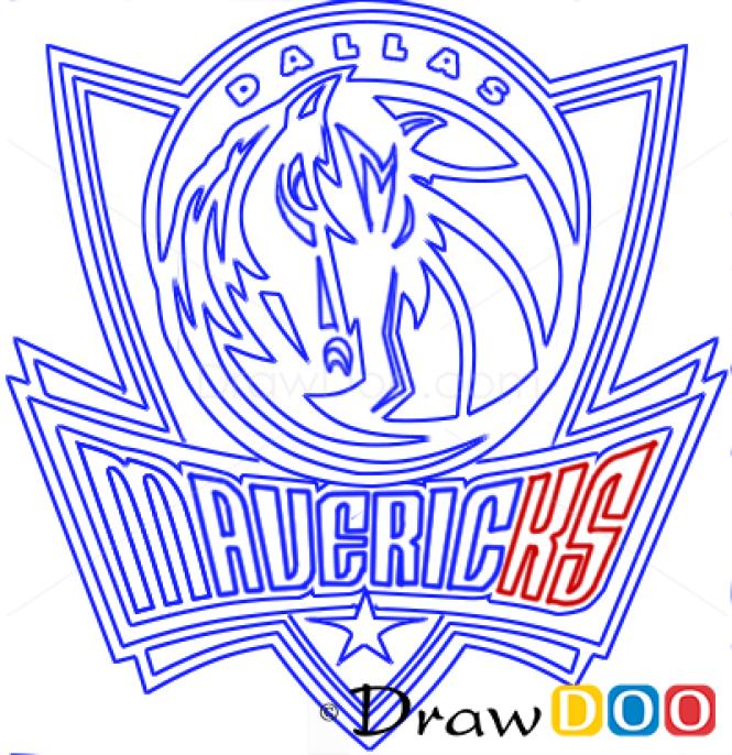 How to Draw Dallas Mavericks, Basketball Logos