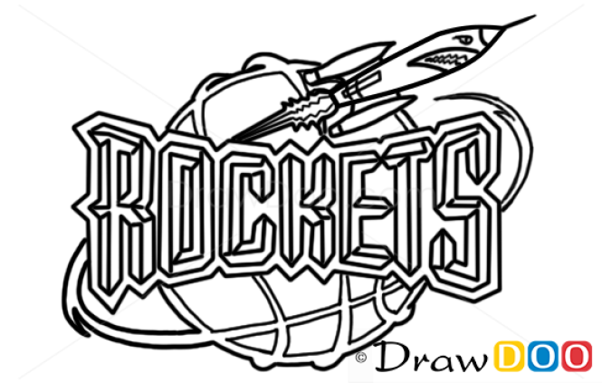 How To Draw Houston Rockets Basketball Logos