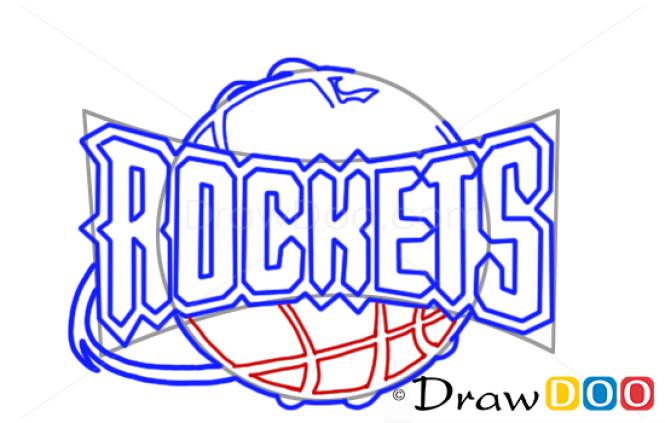 How to Draw Houston Rockets, Basketball Logos
