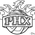 How to Draw Phoenix Suns, Basketball Logos