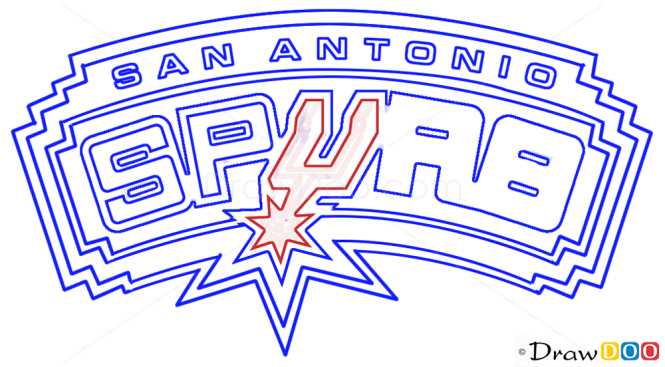 How to Draw San Antonio Spurs, Basketball Logos