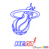 How to Draw Miami Heat, Basketball Logos