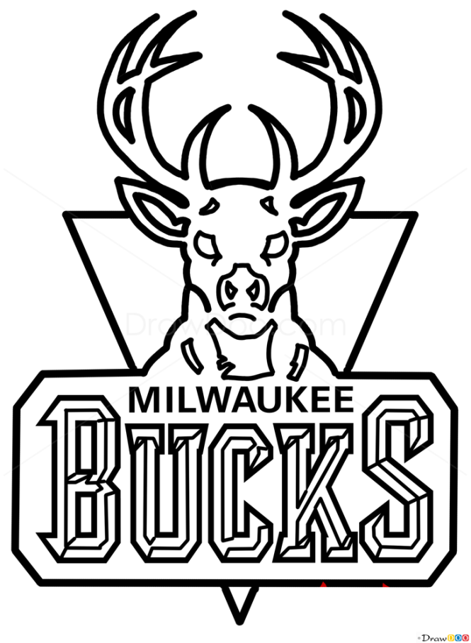 How to draw milwaukee bucks basketball logos for Nba logos coloring pages