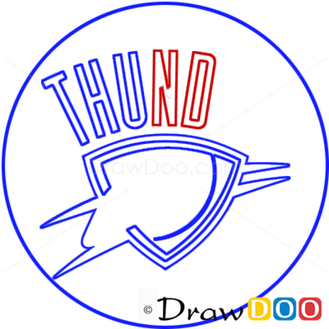 How to Draw Oklahoma City Thunder, Basketball Logos