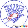 How to Draw Oklahoma City Thunder, Basketball Logos