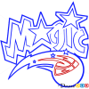 How to Draw Orlando Magic, Basketball Logos