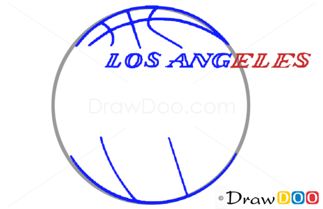 How to Draw Los Angeles Lakers, Basketball Logos