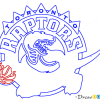 How to Draw Toronto Raptors, Basketball Logos