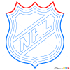 How to Draw NHL Logo, Hockey Logos