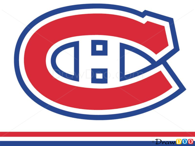 How to Draw Montreal Canadiens, Hockey Logos