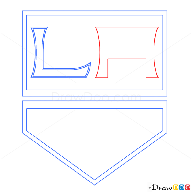How to Draw LA Kings, Hockey Logos