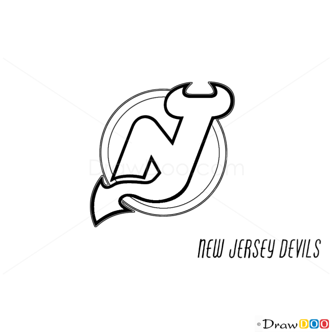 How to Draw New Jersey Devils, Hockey Logos