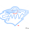 How to Draw Minnesota Wild, Hockey Logos