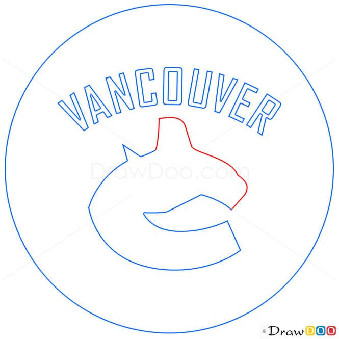 How to Draw Vancouver Canucks, Hockey Logos