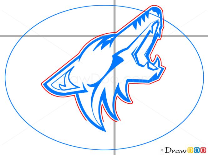 How to Draw Phoenix Coyotes, Hockey Logos