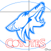 How to Draw Phoenix Coyotes, Hockey Logos