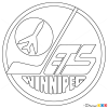 How to Draw Winnipeg Jets, Hockey Logos