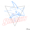 How to Draw San Jose Sharks, Hockey Logos