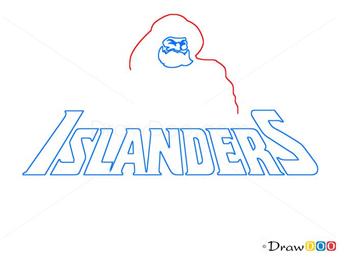 How to Draw NY Islanders, Hockey Logos