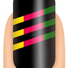 How to Draw Striped Nails, Nail Art
