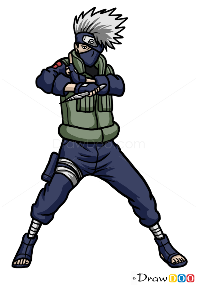 Kakashi Drawing Easy How to Draw Kakashi Hatake