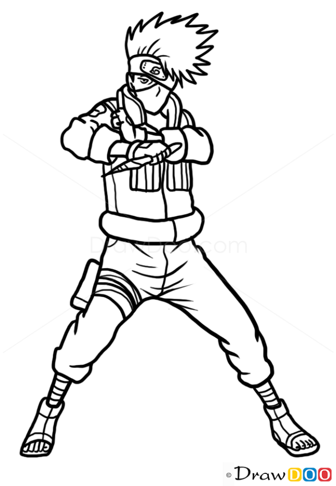 how to draw kakashi hatake naruto