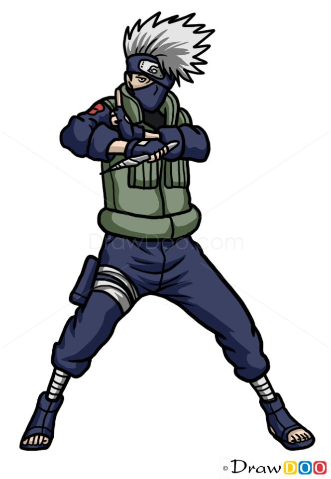 How to Draw Kakashi Hatake, Naruto