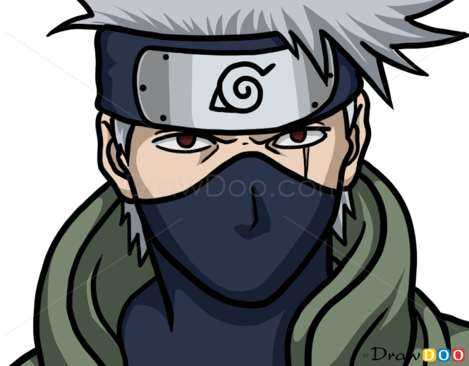 how to draw kakashi hatake face naruto